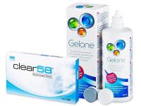 Alensa.ee - Kontaktläätsed - Clear 58 (6läätse)