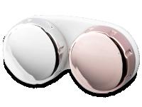 Alensa.ee - Kontaktläätsed - Läätsekonteiner peegelpinnaga - roosa-hõbe